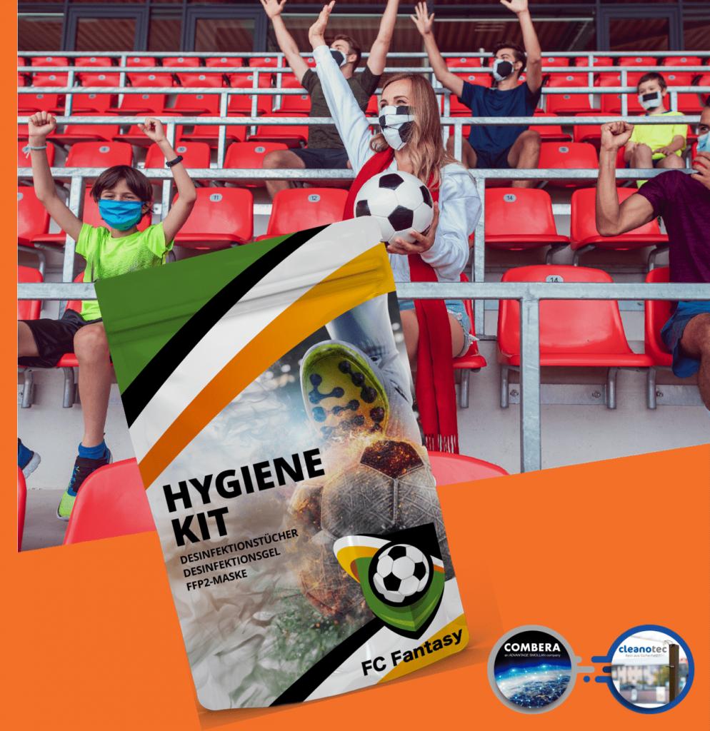 Hygiene-Kit für Sportveranstaltungen Verein Sport Fußballspiele Fußballvereine Sportvereine Fans Fußball-Fans Public Viewing Fußball-Europameisterschaft 2020 Fußball EM
